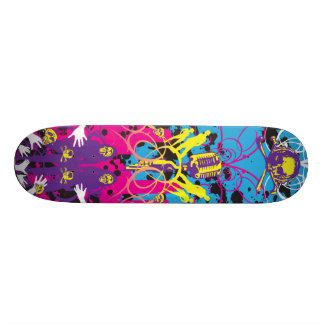 AM Radio Skulls Mics Skate Board Decks