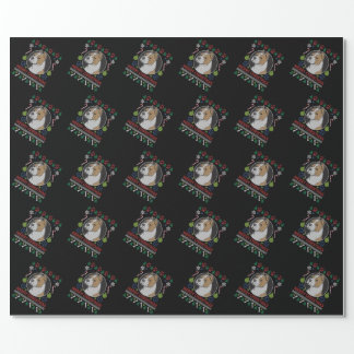 Am Staffordshire Merry Christmas Ugly Sweater Wrapping Paper