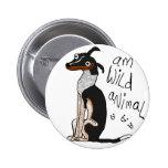 Am Wild Animal 6 Cm Round Badge