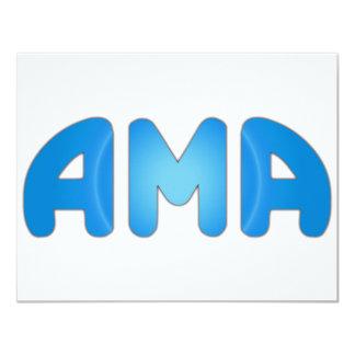 AMA 11 CM X 14 CM INVITATION CARD