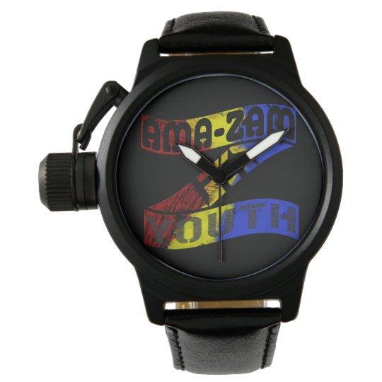 Ama Zam Youth Z Wrist Watch in Black
