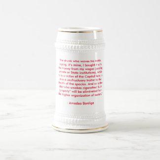 Amadeo Bordiga anti-drinking beer stein