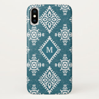 Amadora Teal Blue Pattern iPhone X Case