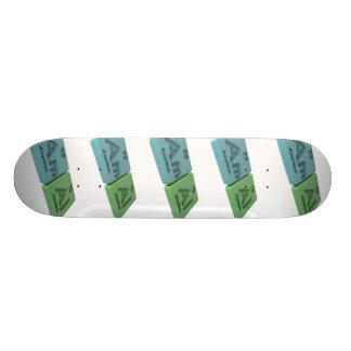 Amal as Americium Am  and Aluminium Al Skate Board