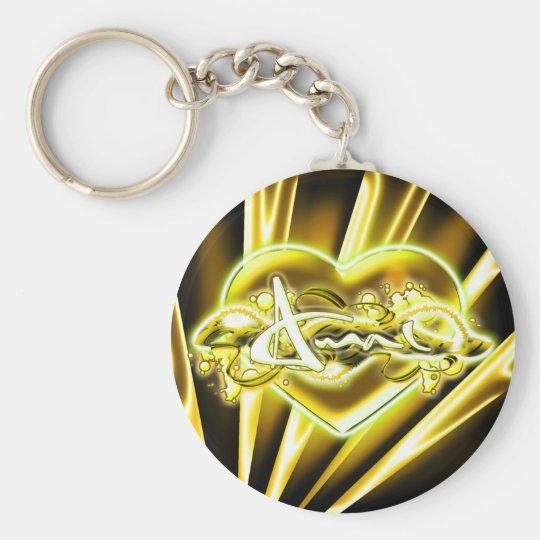 Amal Basic Round Button Key Ring