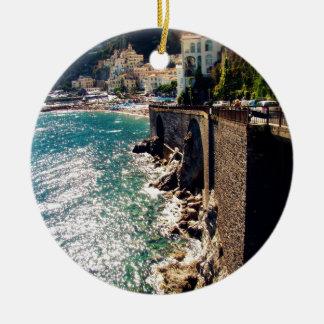 Amalfi Coast Christmas Ornament