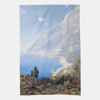 Amalfi Coast Italy Blue Ocean Sea Kitchen Towel