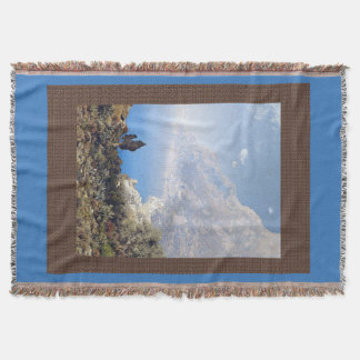 Amalfi Coast Italy Ocean Sea Throw Blanket