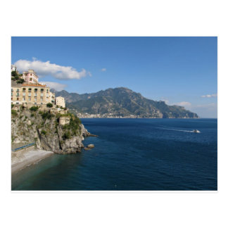 Amalfi Coast view toward Majori Postcard