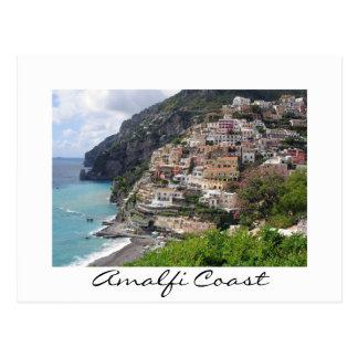 Amalfi coast village Positano white postcard