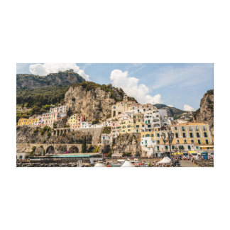 Amalfi from the Waterfront Canvas Print