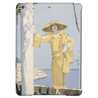 Amalfi, illustration of a woman in a yellow dress