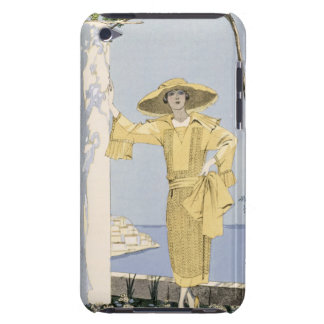 Amalfi, illustration of a woman in a yellow dress barely there iPod cover