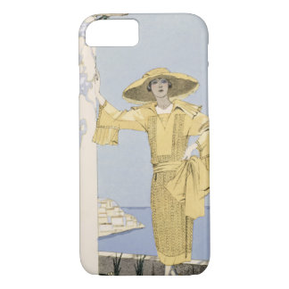Amalfi, illustration of a woman in a yellow dress iPhone 8/7 case