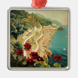 Amalfi Italia Silver-Colored Square Decoration