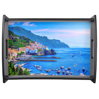 Amalfi Italy Colorful Photo Art Serving Tray