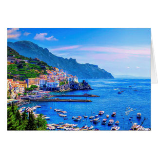 Amalfi Italy Europe Photo Art Card