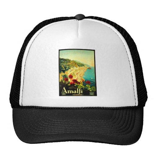Amalfi Italy Italia VintageTravel Advertisement Hat