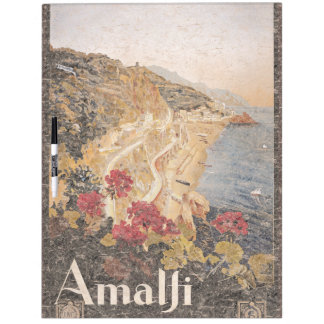 Amalfi Italy Travel Poster Europe Dry Erase Board