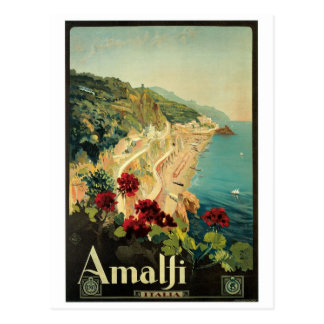 Amalfi Italy vintage poster Post Card