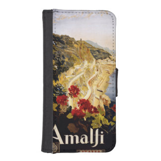 Amalfi Italy vintage travel phone wallets