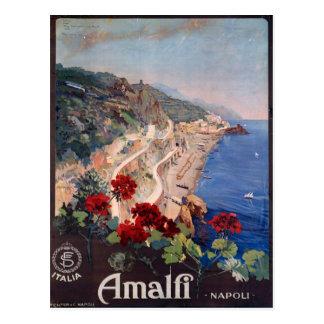 Amalfi Napoli Italy Vintage Italian Travel Poster Postcards