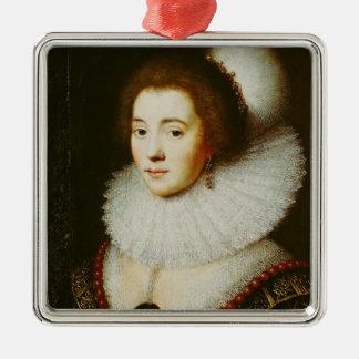 Amalia van Solms Silver-Colored Square Decoration