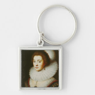 Amalia van Solms Silver-Colored Square Key Ring