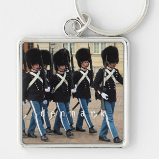 Amalienborg Soldiers Silver-Colored Square Key Ring