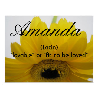 Amanda Name Meaning Poster