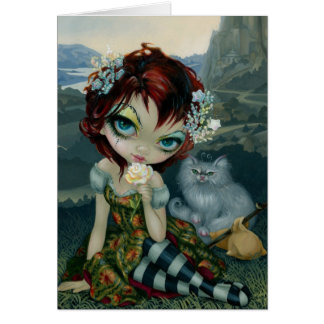 """Amanda Palmer Tarot:  The Fool"" Greeting Card"