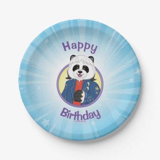Amanda Panda 7 Inch Paper Plate