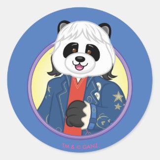 Amanda Panda Classic Round Sticker