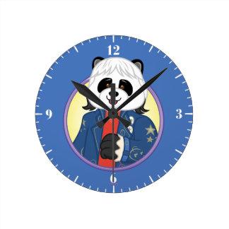 Amanda Panda Round Clock
