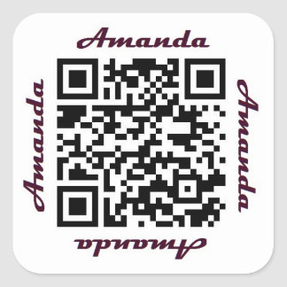 Amanda QR Code Personalized NAME Sticker