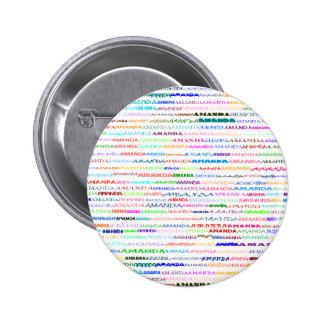 Amanda Text Design II Round Button