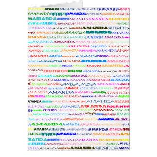 Amanda Text Design II Vertical Greeting Card