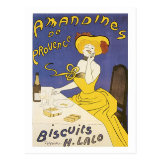 Amandines de Provence Biscuits H. Lalo Vintage Ad Postcard