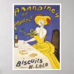 Amandines de Provence Biscuits H. Lalo Vintage Ad Poster