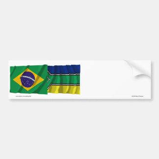 Amapá & Brazil Waving Flags Bumper Sticker