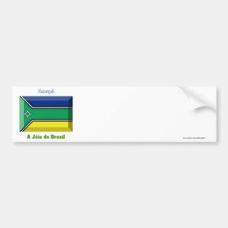 Amapá Flag Gem Bumper Sticker