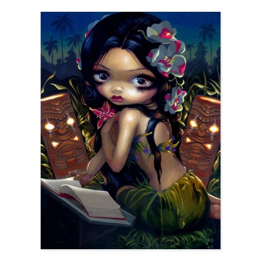 """Amara and the Book"" Postcard"