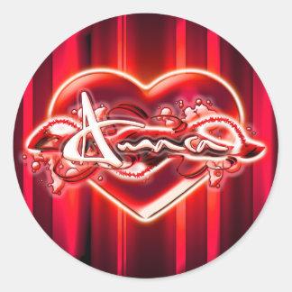 Amara Round Sticker