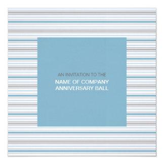 Amara Stripe Cornflower Corporate Ball Invitation