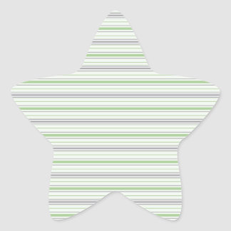 Amara Stripe pistachio Star Sticker