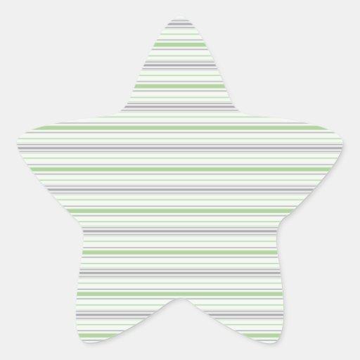 Amara Stripe pistachio Star Sticker
