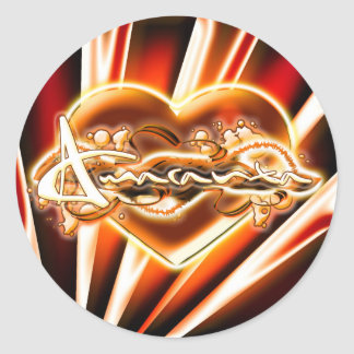 Amaranta Round Sticker