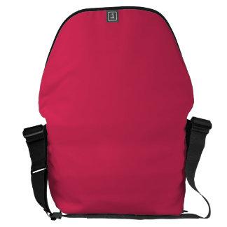 AMARANTH RED (solid color) ~ Courier Bag