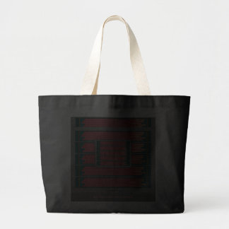 Amaranth Tango on Turquoise 2 Large Tote Bag