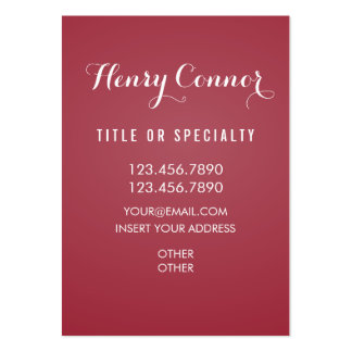 Amaranth Vertical Board Pack Of Chubby Business Cards